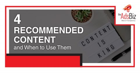 4 Recommended Content and When to Use Them